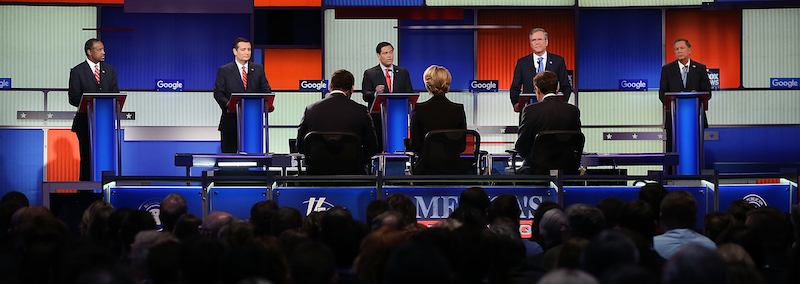 Republican Presidential Candidates Debate In Iowa Days Before State's Caucus